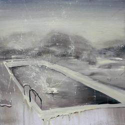池中水 58×58cm  2014 oil on canvas 拷貝
