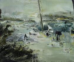 遛狗73X61CM 2015 oil on canvas 拷貝
