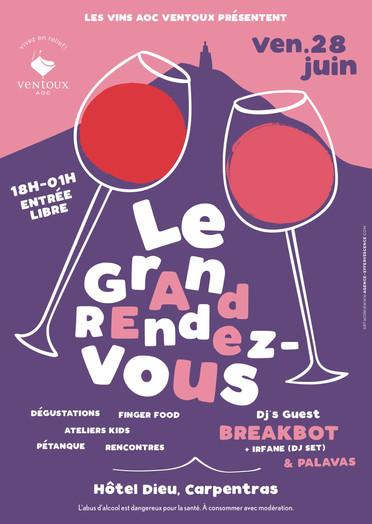 Concept événementiel pour les vins AOC Ventoux