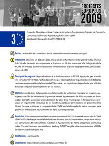 Convenio Colaboración entre el Ayuntamiento de Alzira y la Fundación Comunidad Valenciana Región Europea