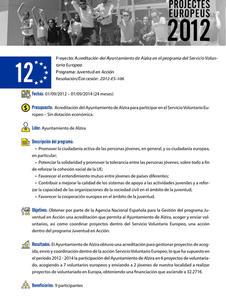 Acreditación del Ayuntamiento de Alzira para el SVE