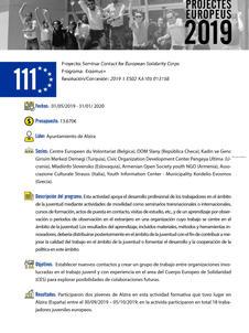 Seminar Contact for European Solidarity Corps Alzira
