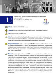 "WEED ""Women Enterprise Employment in Local Development"""