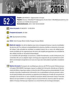 IDEA Moves II - Oportunities in Europe