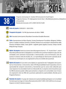 Comunity 2.0 - Creativa CSR instruments for Youth Projects