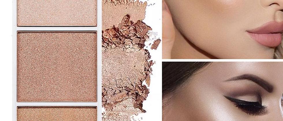 4 Colors Highlighter Palette Professional Face Contour Bronzer Blusher