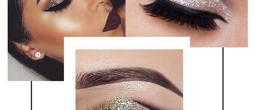 QiBest 15 Colors Glitter Liquid Eyeshadow Waterproof Lasting