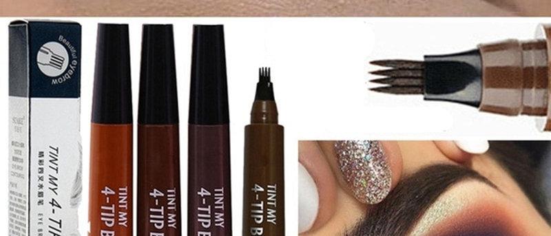 Fork Tip Eyebrow Liquid  Pencil Waterproof  Brown Eyebrow Pencil
