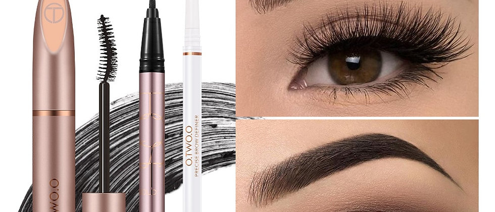 3pcs Set:Mascara + Eyebrow + Eyeliner Long Lasting