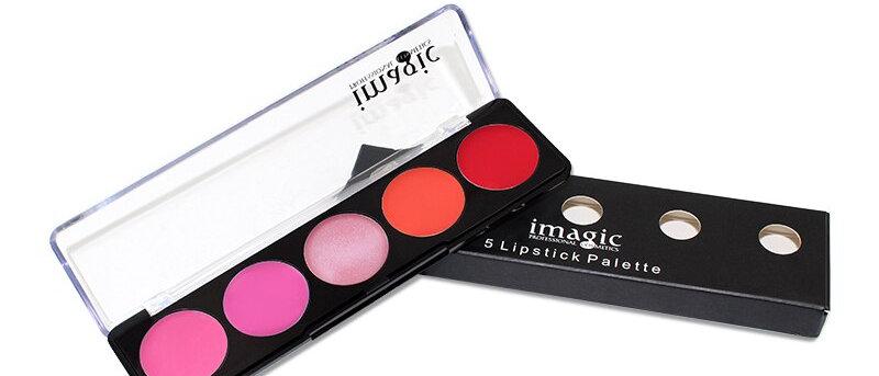 5-Color Matte Lipstick Palette