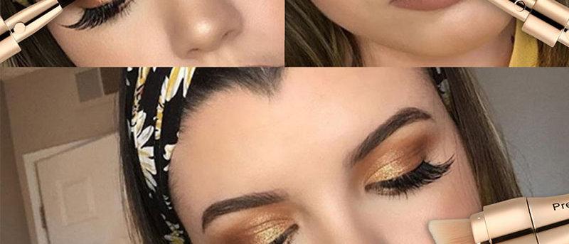 4 in 1 Makeup Brushes Foundation Eyebrow Shadow Eyeliner Blush