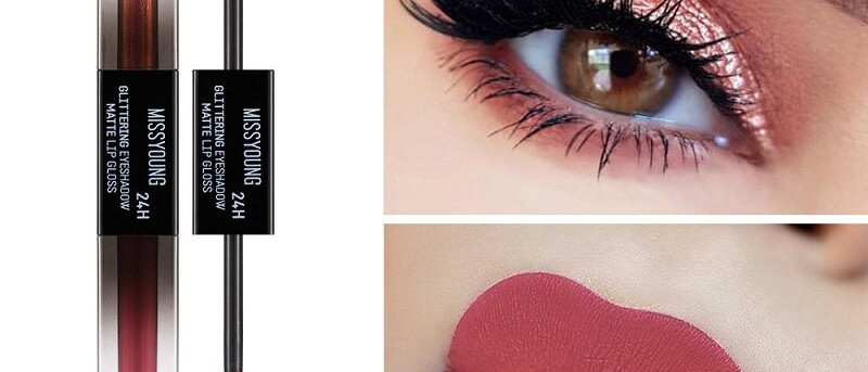 Double-Headed lip Gloss &Eye Shadow