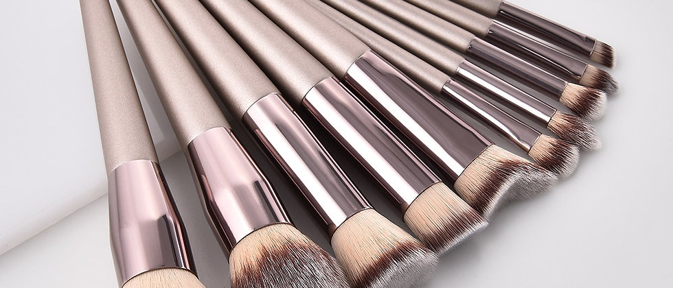 1PC Champagne Makeup Brushes Set