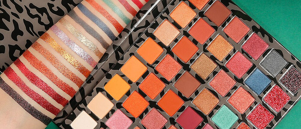 Pro Warm Nude Eyeshadow Palette 48 Colors Earth Tone Natural Bronze & Neutral