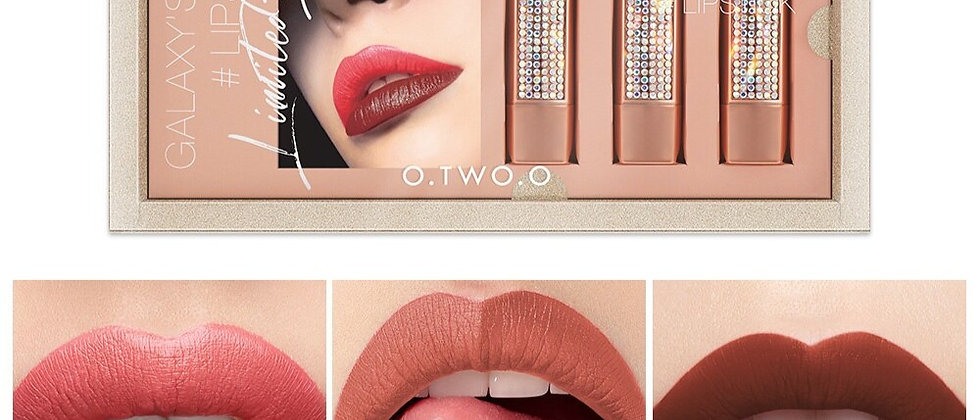 3set Matte Nude Moisturizer Smooth Lipstick