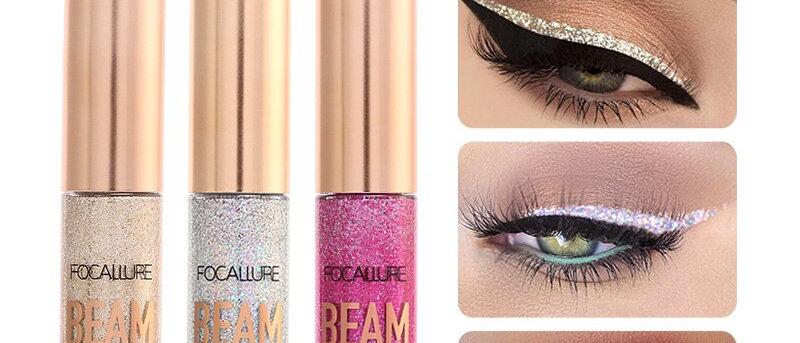 Liquid Glitter Eyeliner Pencils White Gold Color Shining Shimmer Eye Liner