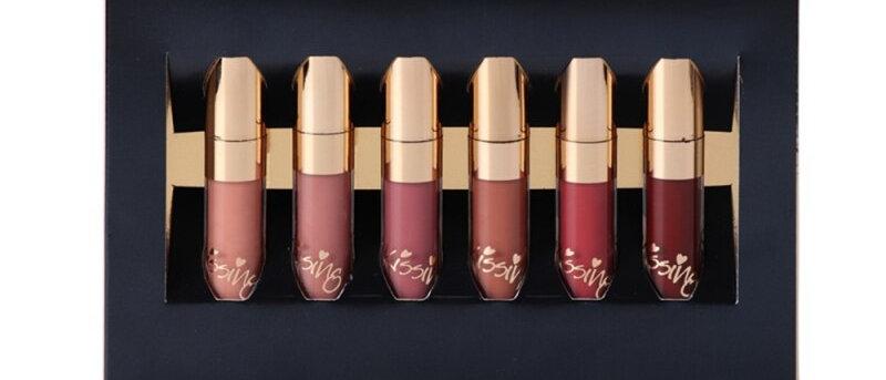 6pcs/Set Liquid Lipstick Lip Gloss Professional Makeup