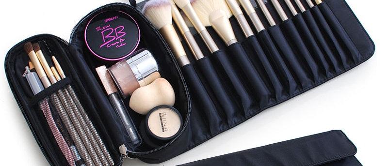 Multifunction  Travel Makeup Brush Bag