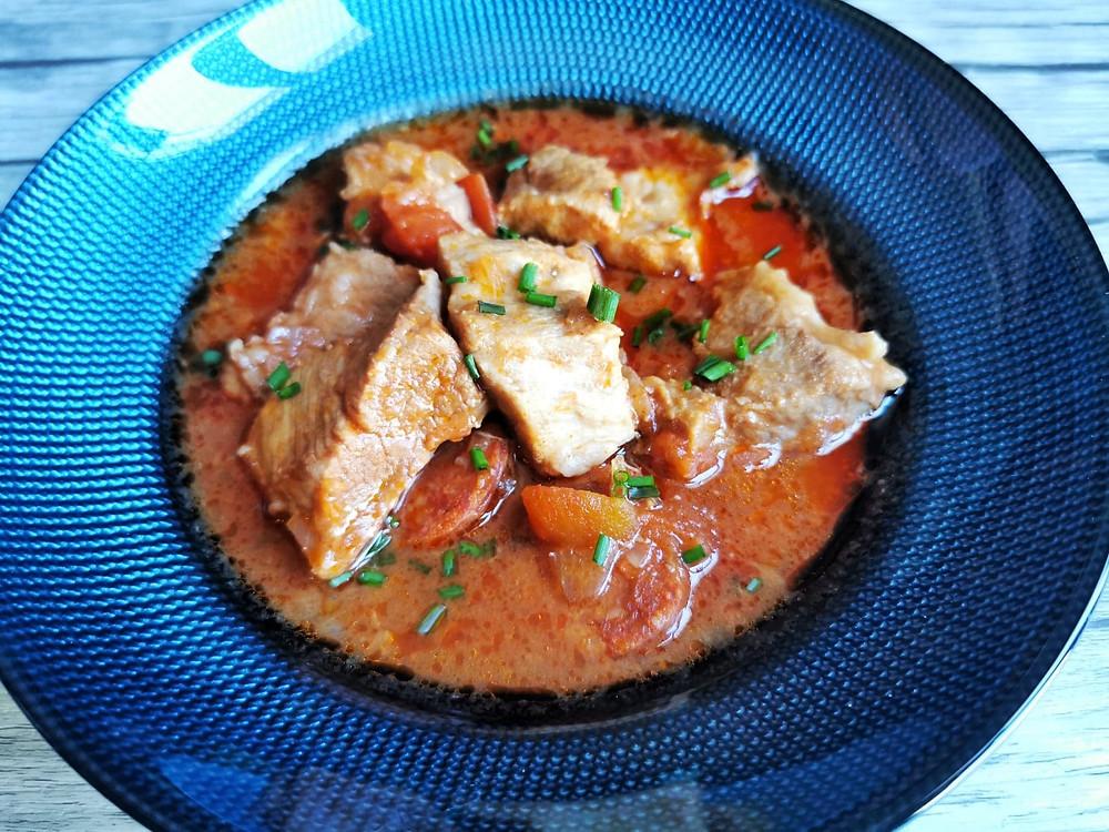Porc au Porto et chorizo au micro minute Tupperware, Porto et chorizo