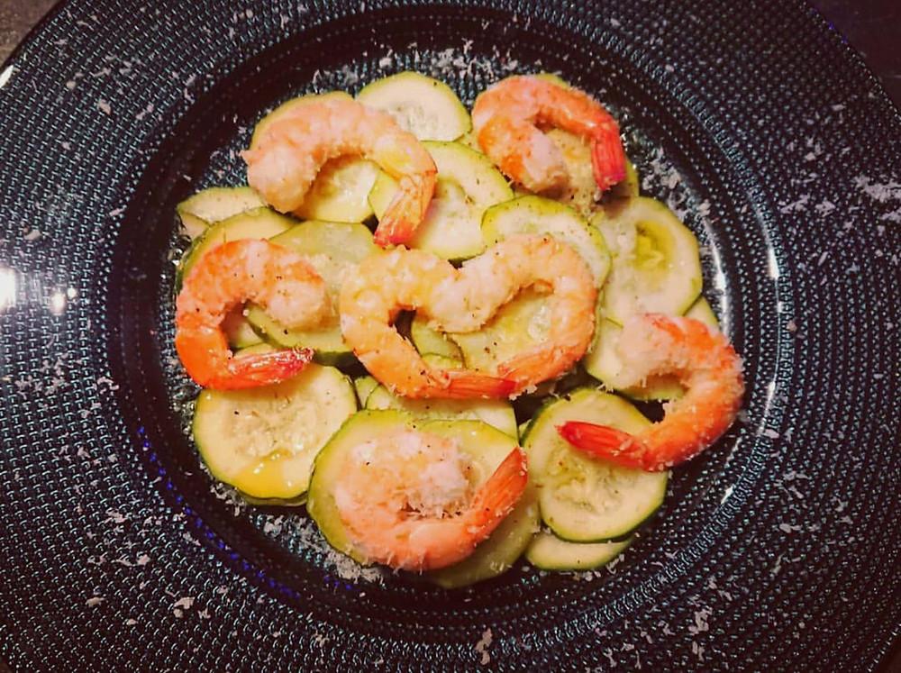 recette des crevette coco courgettes au citron avec le micro urban cuisson vapeur Tupperware