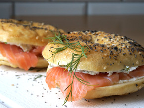 Bagels nordiques au saumon fumé et fromage frais