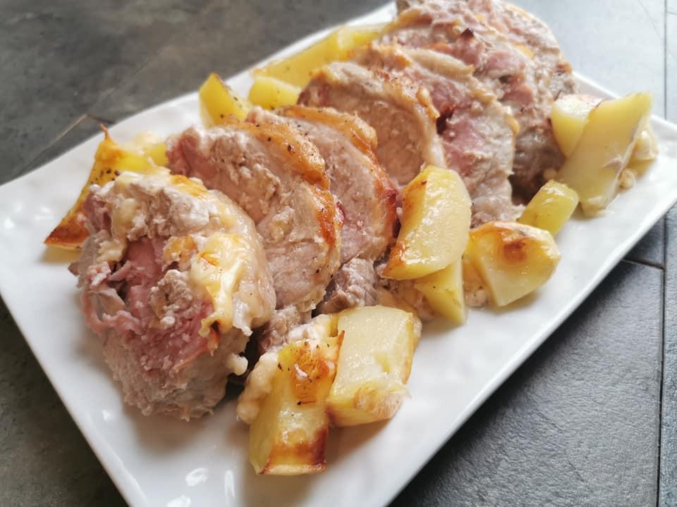 Roti de porc façon Orloff à la raclette