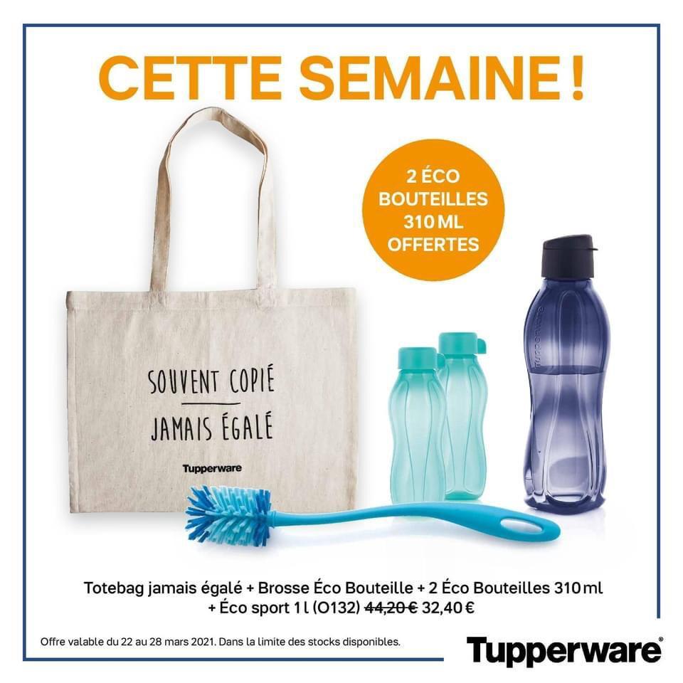 Promotion Tupperware semaine 12 éco sport, éco bouteille