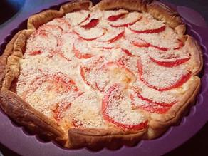 Recette gourmande de la tarte feuilletée tomate et Saint Nectaire