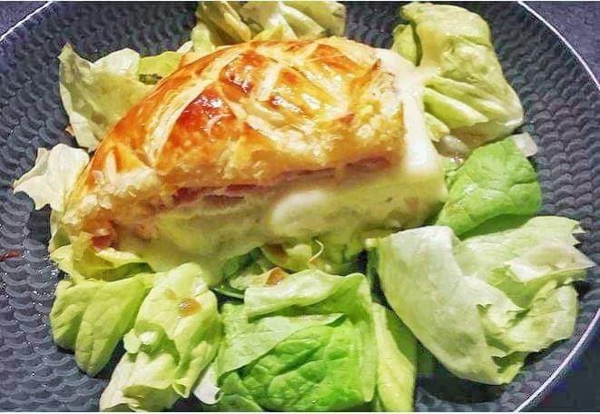 Camembert feuilleté intérieur