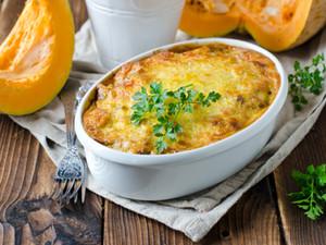 Gratin léger de potiron au fromage blanc