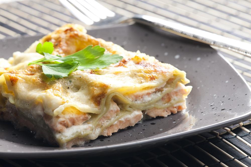 Lasagnes de saumon et fromage frais dans l'ultra pro Tupperware