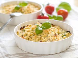 Crumble tomate oignons, recette Tupperware