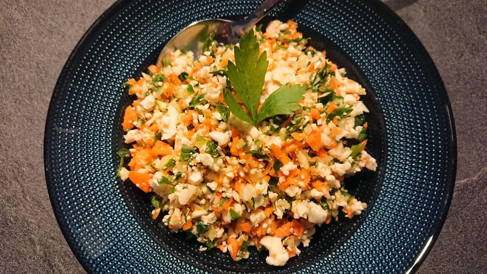 Taboulé détox aux légumes crus Tupperware