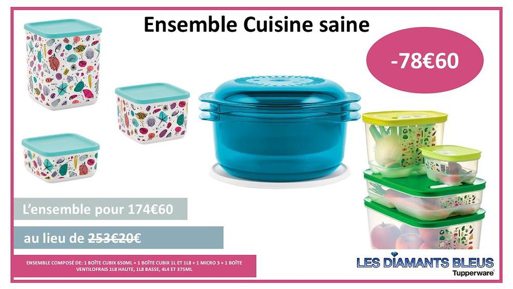 Ensemble cuisine saine au micro 3 Tupperware valable jusqu'au 27/06/21
