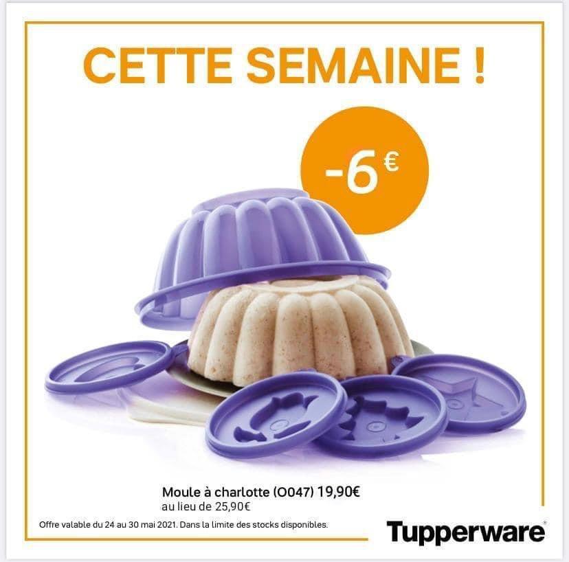 moule à charlotte tupperware violet, promotion, -6 €