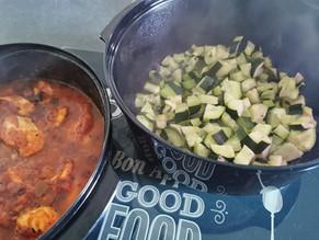 Poulet aux légumes et courgettes basilic au micro 3 Tupperware