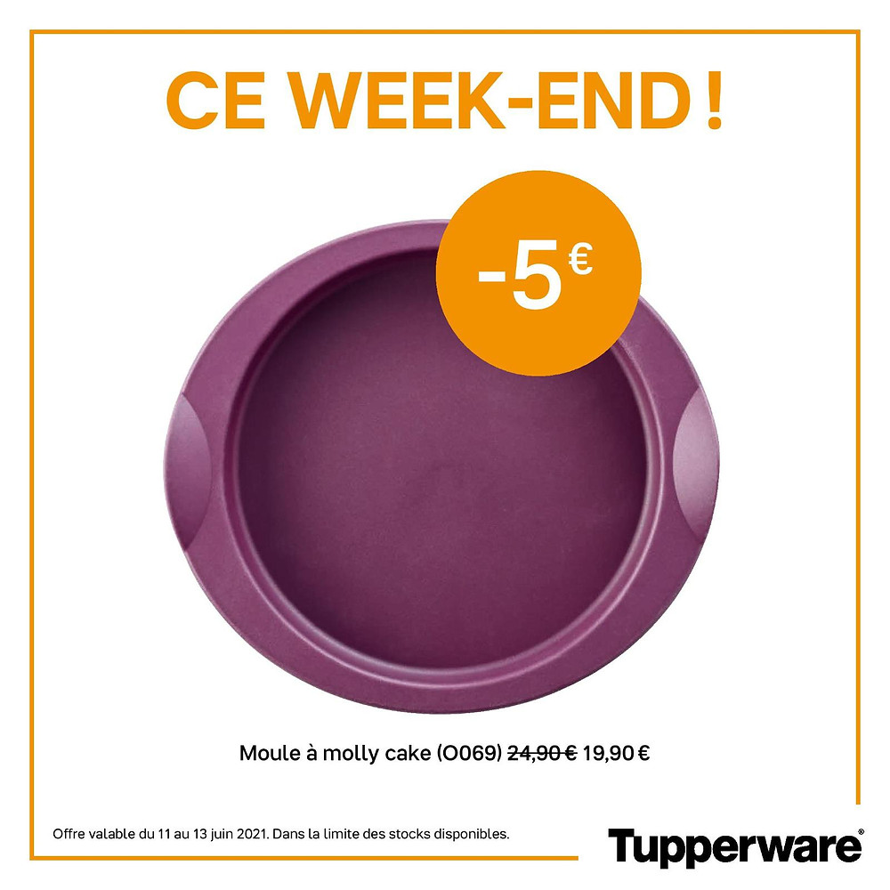 promotion moule Molly cake Tupperware