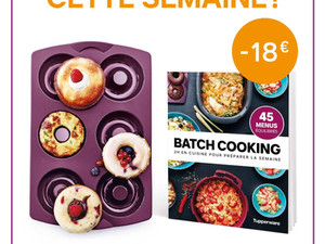 Promotion Tupperware moule à Hoops et livre Batch cooking