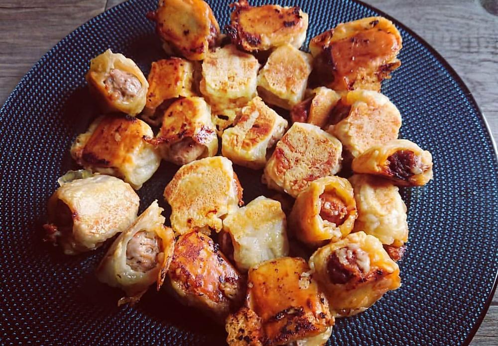 Feuilletés saucisses et merguez au micro pro grill tupperware