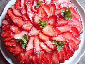 Tarte aux fraises et crème pâtissière avec Companion de Moulinex et Tupperware