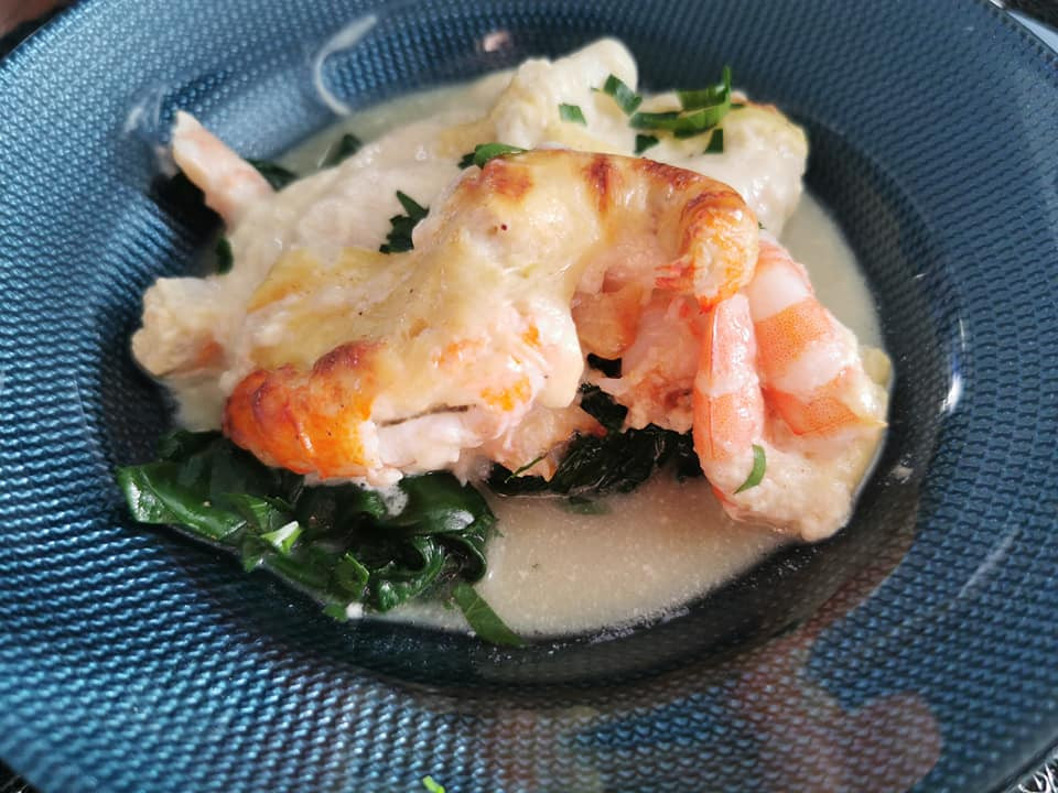 Crevettes et langoustines en cocotte