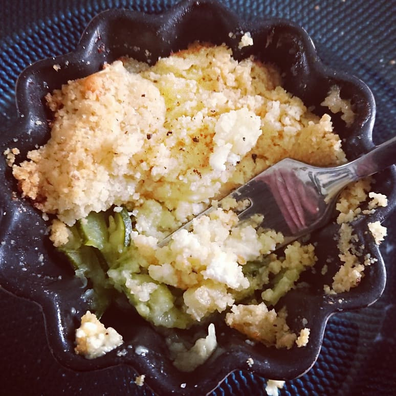 ramequin crumble courgettes chèvre