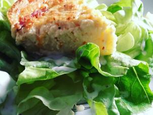 Quiche sans pâte légère jambon fromage