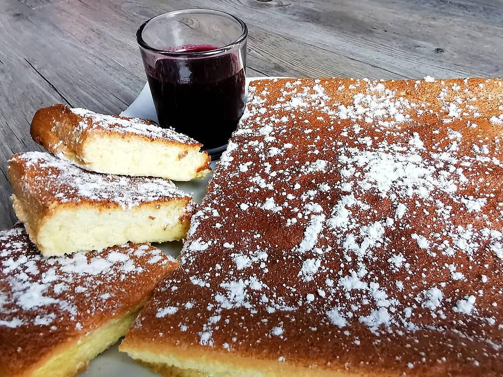 Gâteau de Savoie, coulis de fruits rouge, speedy chef, tupperware