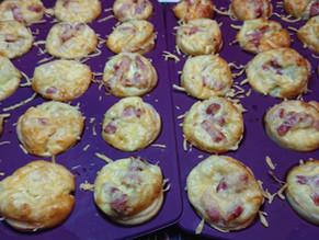Mini quiches faciles et rapides aux lardons et fromage