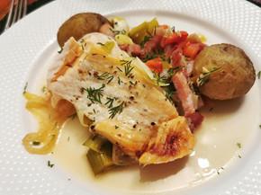 Suprême de saumon et pommes de terre de Noirmoutier au micro 3 Tupperware