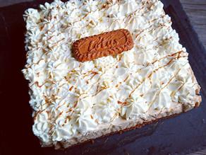 Carré spéculoos au chocolat blanc et chantilly mascarpone avec Tupperware