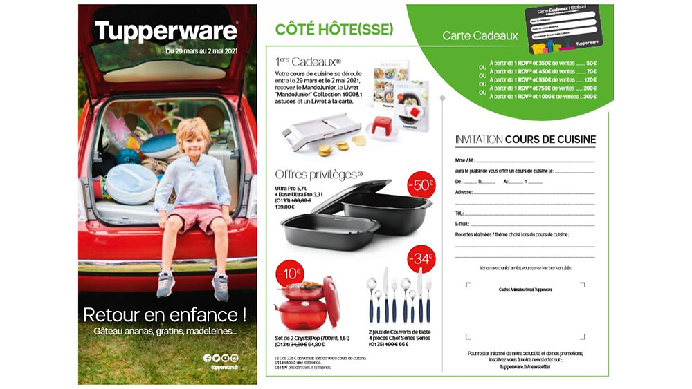 Tupperware promotions d'avril 2021