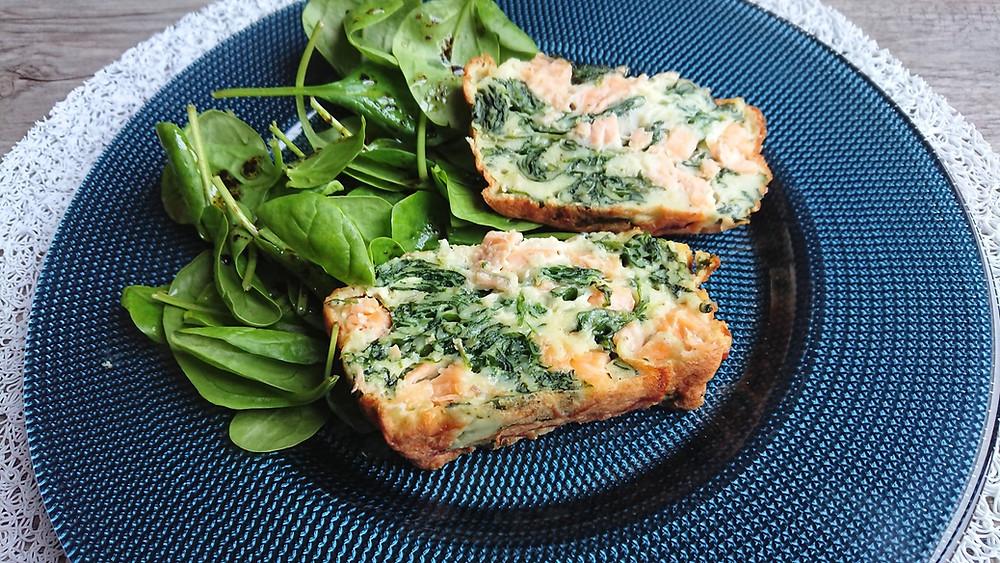 Clafoutis au saumon et épinards dans les terrines ultra pro Tupperware