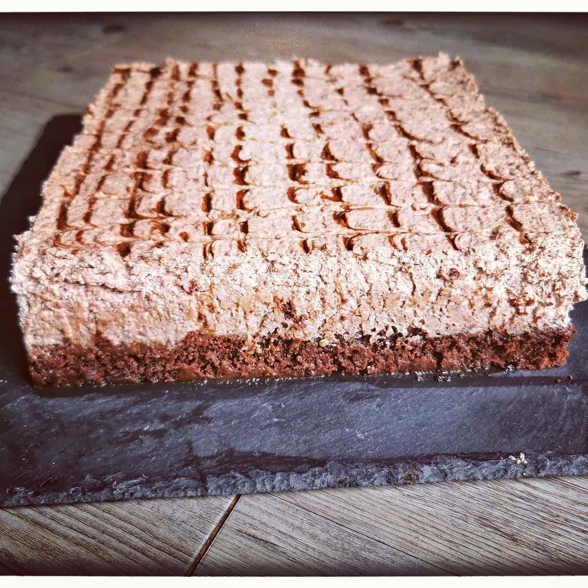 Le Despacito Brésilien, un gateau moelleux composé d'une génoise et d'une mousse au chocolat